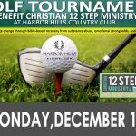 Christian 12-Step Ministry Golf Tournament coming December 11th!